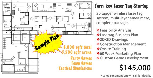 Laser tag startup floor plan