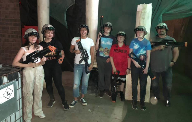 laser taggers have team building fun