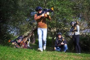 team games with laser tag equipment