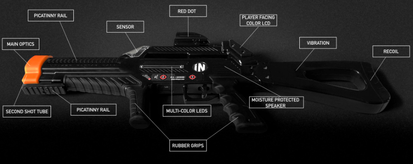 laser tag guns and equipment from raptor3